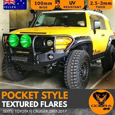 AU369 • Buy TEXTURED JUNGLE FLARES Suitable For FJ CRUISER 2007-2017 GUARD POCKET STYLE ABS