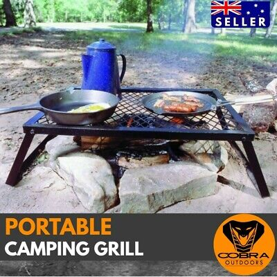 AU46 • Buy Camping Grill Campfire BBQ Outdoor Portable Cooking Fishing 4wd Foldable Grill