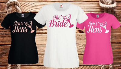 Cocktail Hen Night T Shirts Hen Do Party Bride T-Shirt Custom Ladies Printed • 6.49£