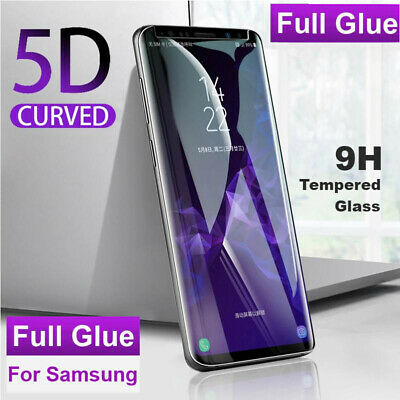 AU8.99 • Buy Full Glue Cover Tempered Glass Screen Protector For Galaxy S8 S9 S10 Plus