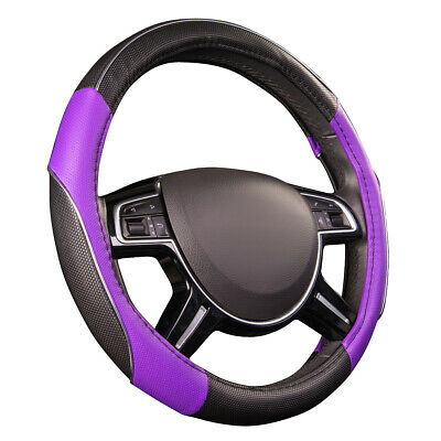 $9.99 • Buy CAR PASS Car Steering Wheel Cover Purple Color Antiskid Soft Durable Fit Vehicle