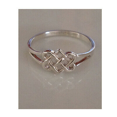 AU14.99 • Buy 925 Sterling Silver Celtic Heart Double Infinity Knot Ring Women Size  6 7 8 9