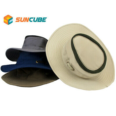 $13.99 • Buy Outdoor Hiking Fishing Hat Summer Sun Protection Wide Brim Boonie Hat Cap 50+UPF