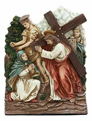 Ebros Stations Of The Cross Catholic Station 4 Jesus Meets His Mother Figurine • 27.83£