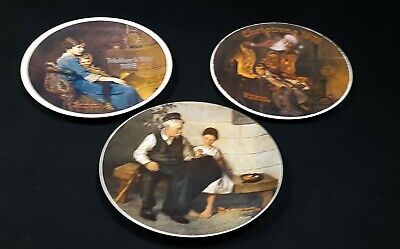 $ CDN22.95 • Buy 3 Norman Rockwell Collector Plates - Knowles Collection