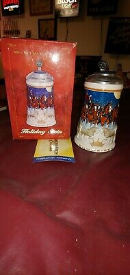 $ CDN48.28 • Buy 2005 Anheuser Busch Budweiser Holiday Stein Lidded Signature Edition CS628SE NIB