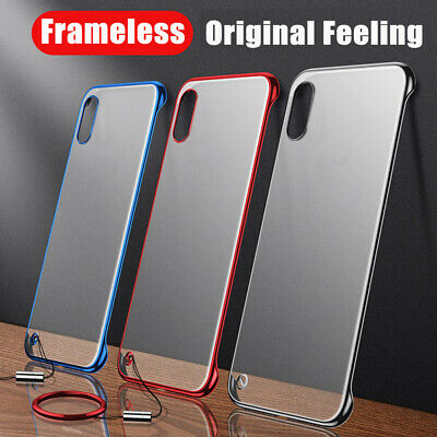 AU4.07 • Buy For IPhone 8 Plus X XS Max Luxury Frameless Ring Matte Silm Hard Back Case Cover
