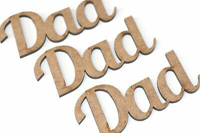 £1.21 • Buy Wooden MDF Dad Sign Craft Shapes Bunting Gift Embellishments Card Decoration
