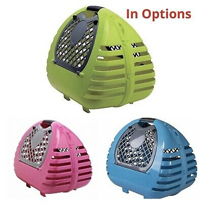 Pet Cat Carrier / Small Dog Transporter Large Carry Cage Box -Bag For Vet Travel • 15.95£