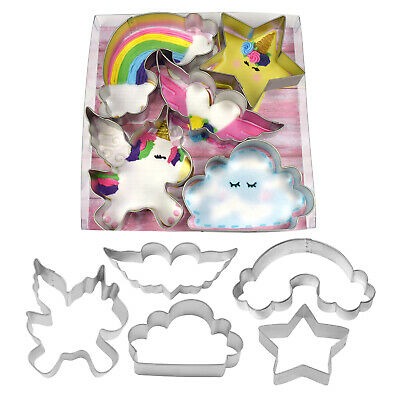 AU14.95 • Buy New Unicorn Party Cake/cookie Cutter Decorating  Set (1)