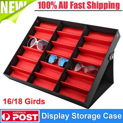 AU32.01 • Buy 18 Sunglasses Glasses Retail Shop Display Stand Storage Box Case Tray W/Cover