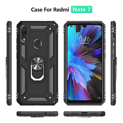 $1.79 • Buy For Xiaomi Redmi Note 7 Shockproof Hybrid Magnetic Ring Holder Stand Case Cover