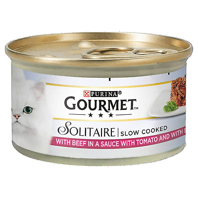 Gourmet Solitaire Beef With Tomato Sauce And Spinach, 85g - Pack Of 12 • 9.09£