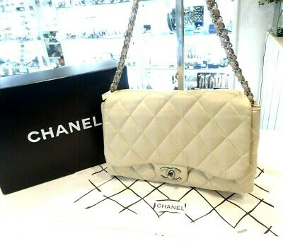 AU2999 • Buy CHANEL Ivory Quilted Lambskin Leather Classic Medium Double Flap Bag