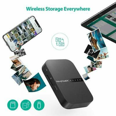 AU90.28 • Buy RAVPower FileHub Wireless Travel Router AC750 Portable SD Card HDD Backup 6700mA