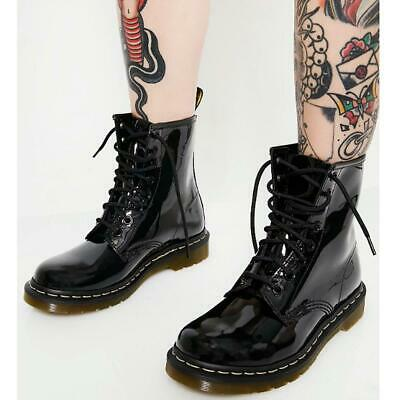 £21.95 • Buy Womens Ladies Ankle Boots Lace Up Flat Shoes Army Worker Grunge Goth Thick Sole