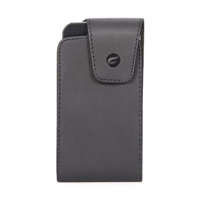 $11.27 • Buy BLACK LEATHER CASE COVER POUCH HOLDER HOLSTER SWIVEL BELT L9W For SMARTPHONES