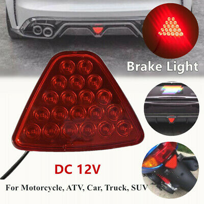 $12.34 • Buy Motorcycle Car Brake Lights Tail Light Turn Signal Reverse Lamps Triangle Shape
