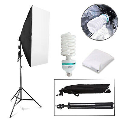 2x25W LED Photography Studio Softbox Continuous Lighting Video Light Stand Kit  • 25.99£