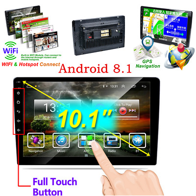 AU177.73 • Buy Android 8.1 Car Head Unit Stereo Radio Bluetooth GPS Mirror Link 2Din + Camera