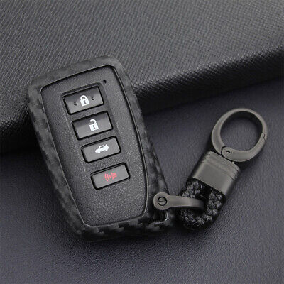 $9.90 • Buy For Lexus Carbon Fiber Car Key Fob Case Cover Chain Ring Keychain Accessories