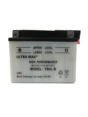 ULTRAMAX Motorcycle Scooter Quad Battery Replace YB4L-B, YT4L-BS, YTX4L-BS • 14.05£