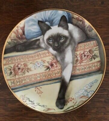£5.75 • Buy Franklin Mint Daphne Baxter  Blue Eyes  Limited Edition Collector Cat Plate
