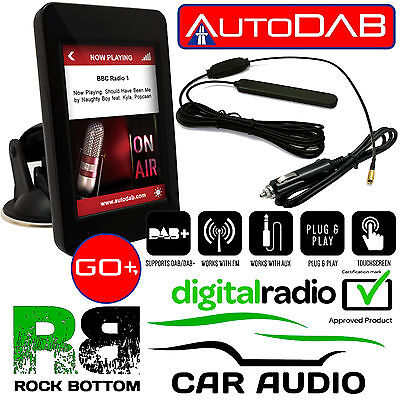 JAGUAR AUTODAB GO+ DAB Car Stereo Radio Digital Tuner 3.5  Touch Screen Display • 124.99£