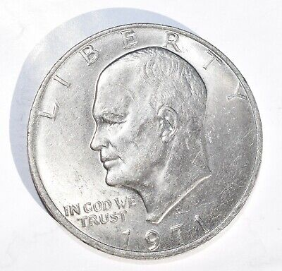 $16 • Buy 1971 D One Dollar Coin Liberty Eisenhower Circulated Excellent Condition