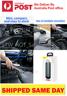 AU69.95 • Buy Baseus Wireless Car Vacuum Cleaner 4000Pa Strong Suction Portable Home Office Au