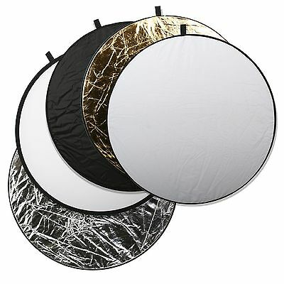 Photography Studio 80cm 5 In 1 Collapsible Multi Light Reflector Studio + Case • 9.99£