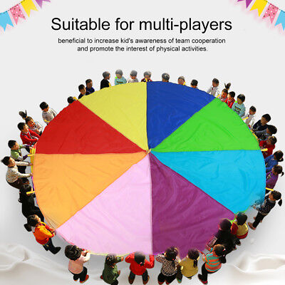 £22.49 • Buy Kids Play Parachute Oxford Fabric Children Rainbow Outdoor Game Exercise Sport❤
