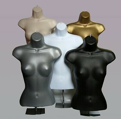 £18 • Buy Female Mannequin Freestanding 3qtr Body Form Top Table With Round Stand Ni