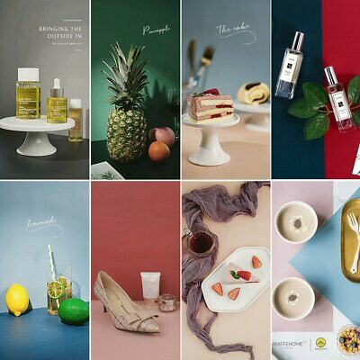 Morandi Color Dual Side Backdrop Paper Food Grain Product Photography Background • 6£