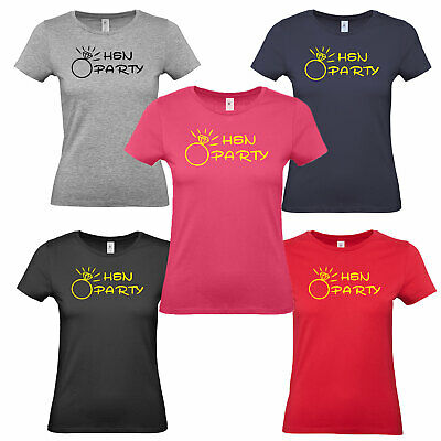 £8.90 • Buy Hen Party T Shirt Party Ladies Night Ring Team Personalised Eight Colours