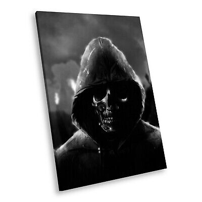 £19.99 • Buy AB215 Skull Gothic Black White Abstract Portrait Canvas Picture Prints Wall Art