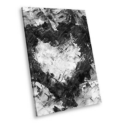 AB1441 Heart Black White Abstract Portrait Canvas Picture Prints Small Wall Art • 19.99£