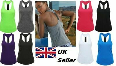 Ladies TriDri® Panelled Fitness Sports Girls Gym Yoga Running Vest Top Sizes  • 3.99£