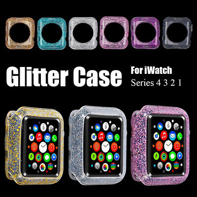 $ CDN2.48 • Buy For Apple Watch Series 4 3 2 1 Bling Silicone Protector Case Cover 38/40/42/44mm