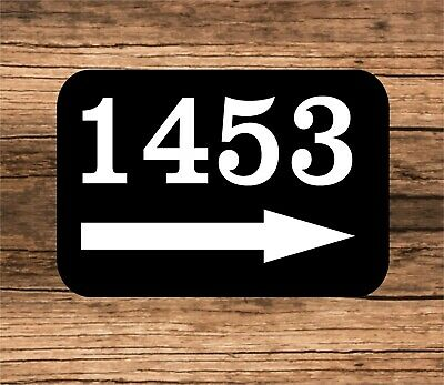 Personalized Home Address Sign Aluminum 6  X 10  Custom House Number Right Arrow • 14.99$