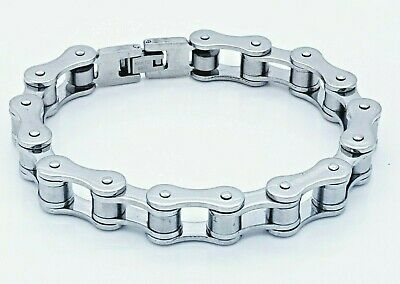 10mm Large Biker Gothic Stainless Steel 316l Bike Chain Bracelet  • 9.99£