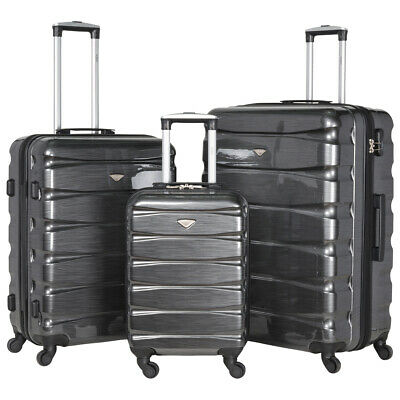 4 Wheel Hard Shell Cabin Suitcase Hand Luggage Bags & Sets Lightweight Ryanair • 29.99£