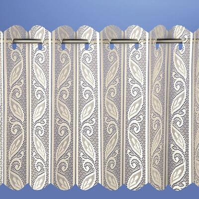 Corsica Lace Net Voile Louvre Vertical Pleated Window Blind Panel - Cream • 7.59£