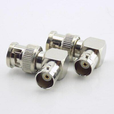 $ CDN5.36 • Buy 4x For CCTV Security Video Camera BNC Male To Female Connector Adapter 90 Angle