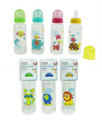 1 X First Steps 250ml Baby Feeding Bottles BPA Free Use From 0+Months 8 Design • 4.49£