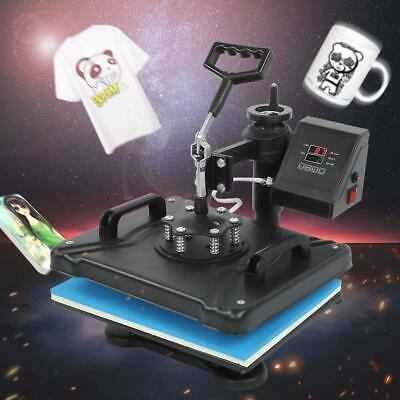 AU729.71 • Buy 8 In 1 Combo Heat Press Transfer Machine UK Plug For T-Shirt/Mug/Plate Printer