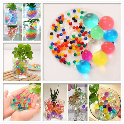 AU9.95 • Buy 500pcs Crystal Soil Water Jelly Ball Beads Orbeez For Plant Flower Multi Color