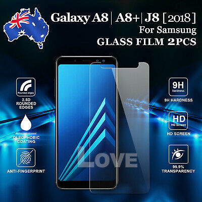 AU3.85 • Buy 2x For Samsung Galaxy J2 Pro J8 A8 2018 J3 J5 J7 Tempered Glass Screen Protector