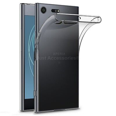 AU6.12 • Buy Clear Slim Gel Case And Glass Screen Protector For Sony Xperia XZ Premium
