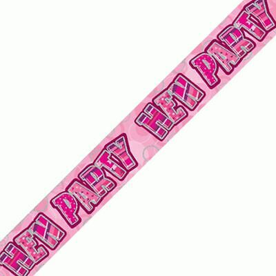 £1.69 • Buy 12ft Long Pink Hen Night Do For Girl Foil Party Banner Decorations Party Supply